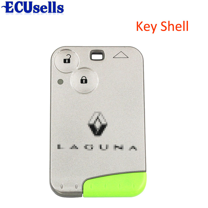 Remote Smart Card Key Case For RENAULT Laguna Smart Card 2 Button Key Shell title=