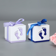 5Pcs/Lot  Baby Feet Pattern Box black Packaging Box Wedding Party Small Gift Candy Jewelry Package Boxes For Handmade Soap Box 50pcs small white kraft paper package box retail lipstick package cardboard boxes handmade soap candy jewelry gift packing box