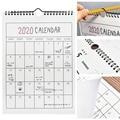 1 pc agenda 2019 2020 365 dias papel parede calendário diário planejador notas para fazer lista kawaii escola material de escritório