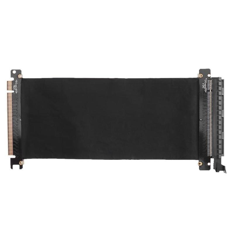 Pci express16x adaptador de porta de extensão de cartão de cabo flexível riser cartão 1 slot pci express x16 riser cartão para 1u 2u 3u ipc chassis