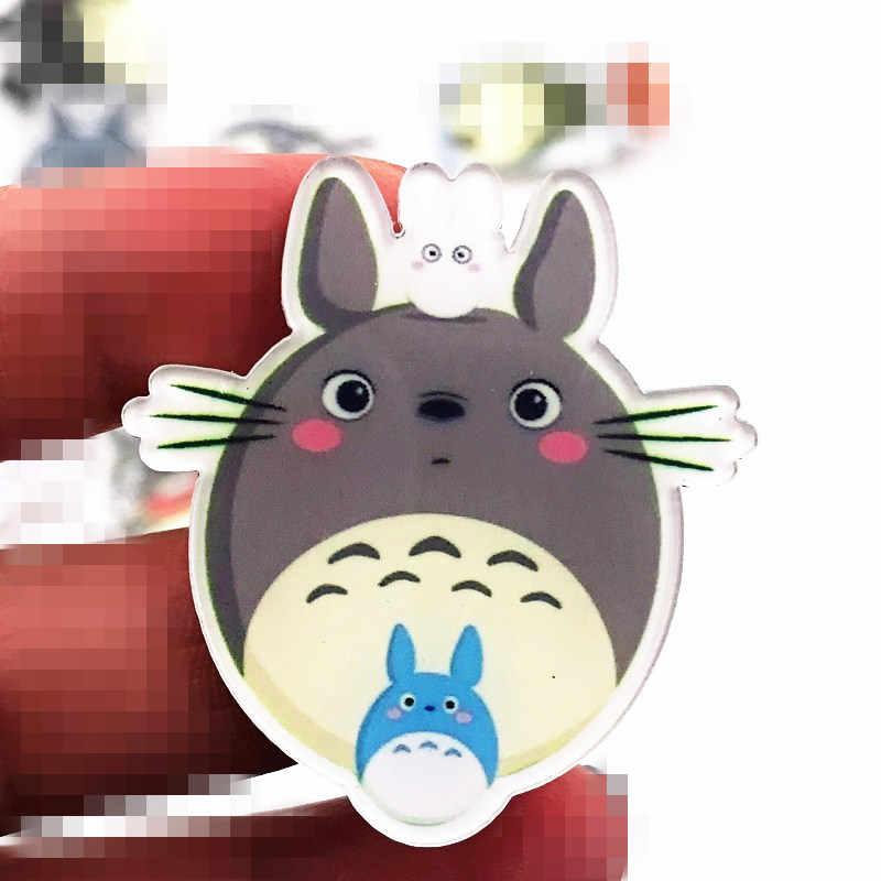 1 piezas Kawaii totoro mi vecino Japón Anime de dibujos animados hombres broche en la mochila de acrílico placas para pasar gato icono para los niños