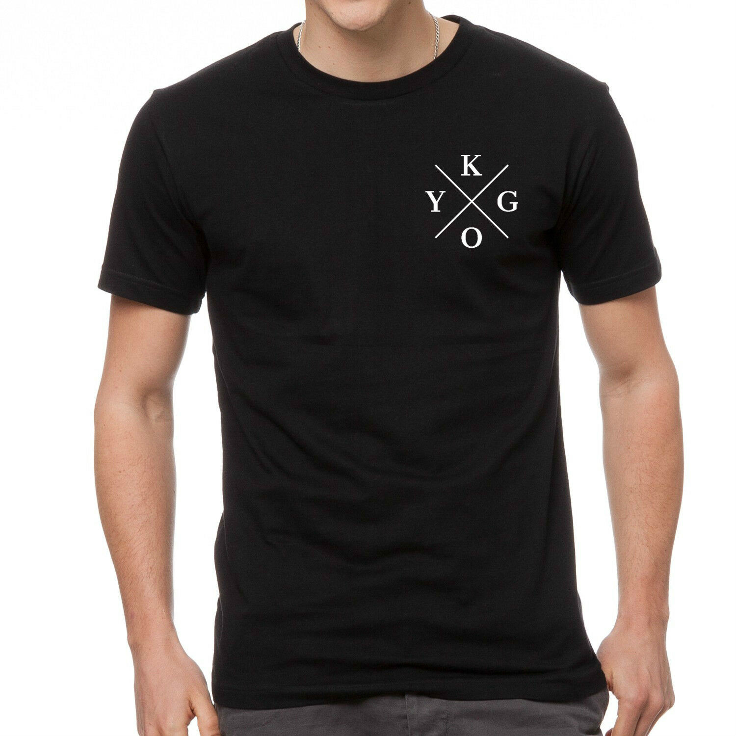 Kygo Print Mens Black T-Shirt 100% Cotton Graphic Tee Edm Music Festival Unisex Size S-3Xl image