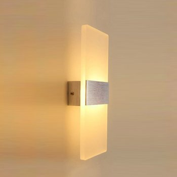 High Quality Acrylic Led Wall Lamp Simple Bedroom Bedside Right Angle Aisle Wall Lamp Hotel Engineering Corridor Lighting 6W