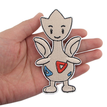 K401 Togepi Sticker for Clothing Applications Patches on Clothes Iron Cartoon Embroidered Patch for Backpack Handbag Badge zotoone anatomical heart stripe badge embroidery patches for backpack stickers on clothes clothing iron on tactical patches diy