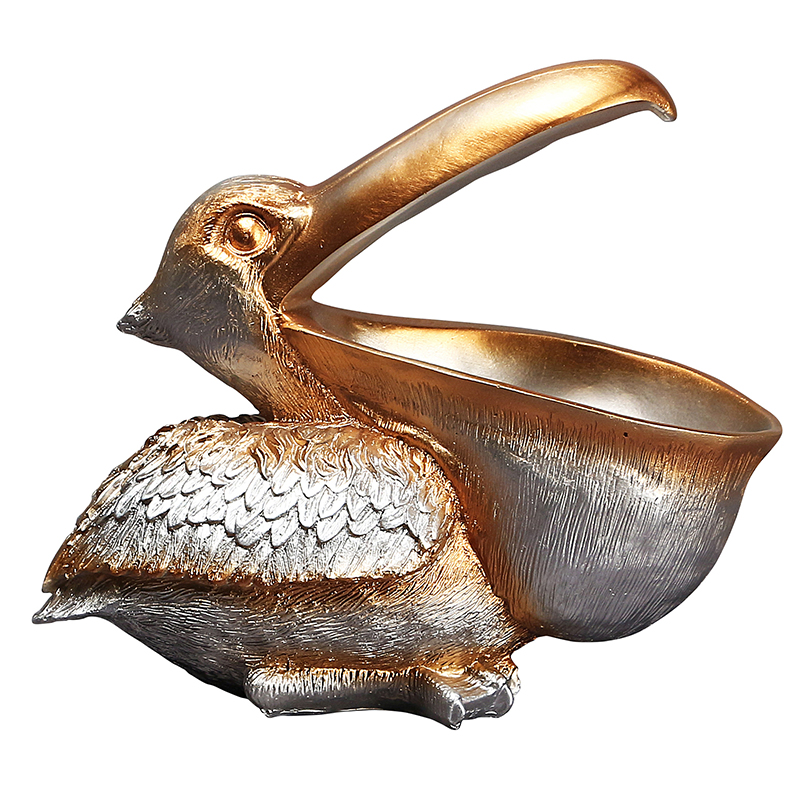 Soft Decoration The Pelican Statue Door Key Porch Wine Cabinet Storage Box Home Toucan Resin Sculpture Bird Art Ornament Gift