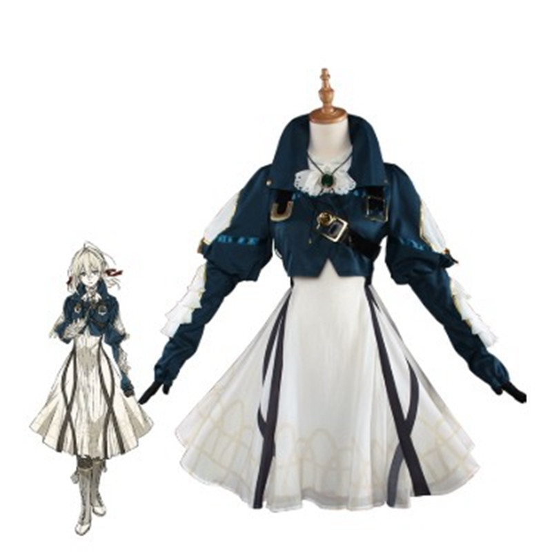 UWOWO Violet Evergarden Cosplay Halloween Party Anime Violet Evergarden Costume Japanese Women Anime Fancy Dress