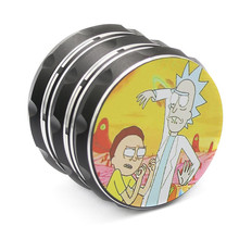 Rick and Morty Herb Grinder Weed Accessories Large Tobacco Crusher 4 Layer