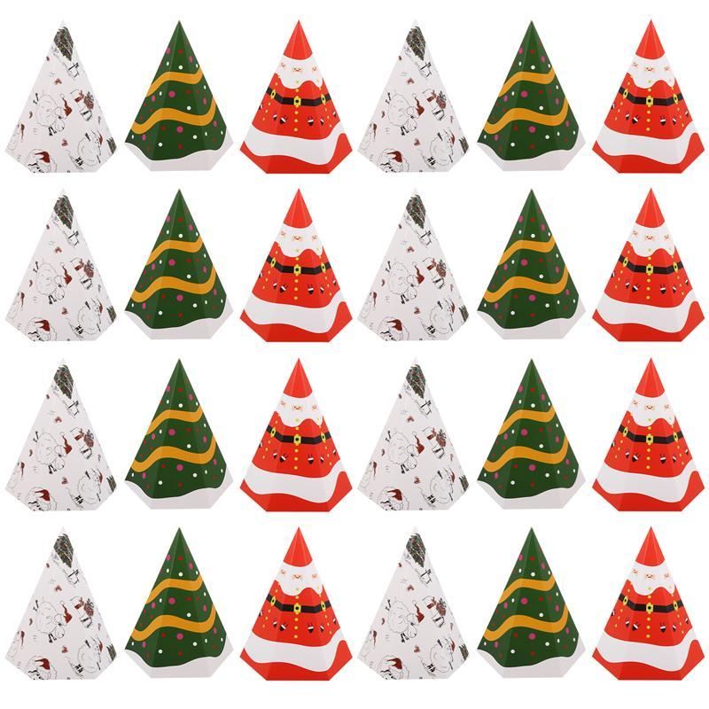 30 шт. рождественские коробки для конфет Складная практичная eco friendly контейнеры