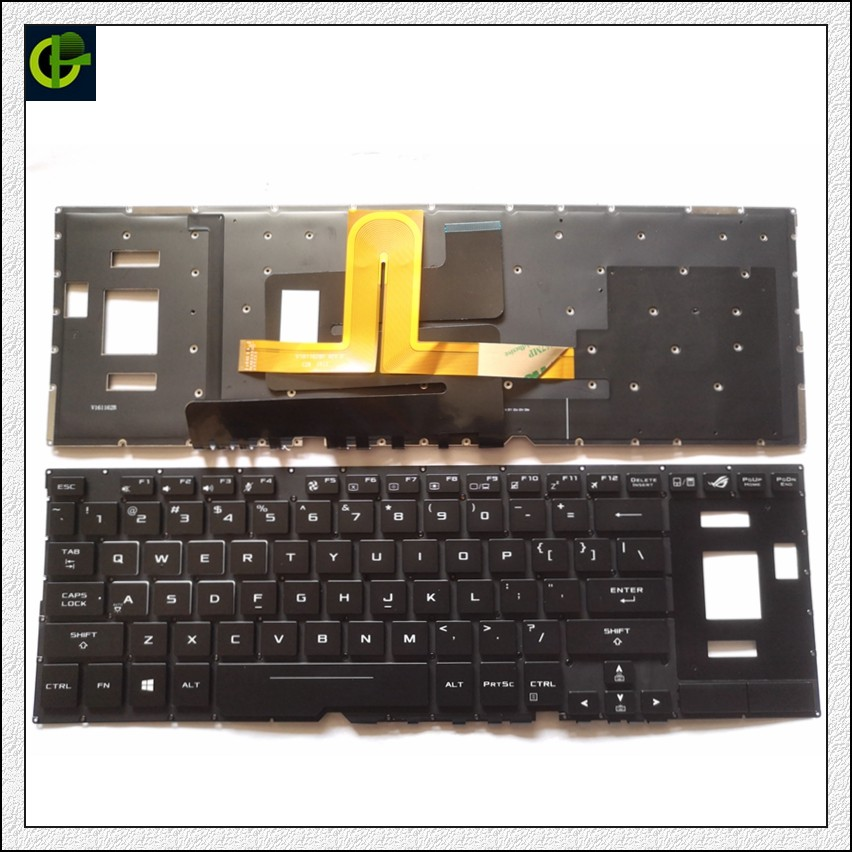 English Backlit Keyboard For Asus ROG GX501 GX501V GX501VI GX501VIK GX501VS GX501VSK GX501G GX501GI-XS74 0KNB0-6617US00 US