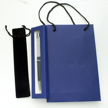 Luxury Diamong on top crystal pen with  gift bag and pen box and velvet pouch student lovely crystals ballpoint Pen