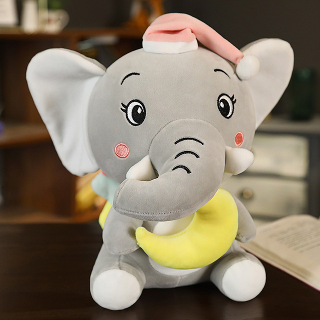1pc 22cm Long Nose For  Star Elephant Stuffed&Plush Doll Educational Anti-stress Toys For Children