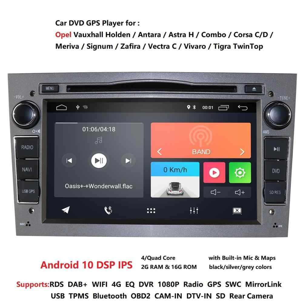 Android 10 1024X600 7Inch 2din GPS Mobil DVD Player untuk Opel Astra H G Zafira B Vectra C D antara Combo Radio Audio