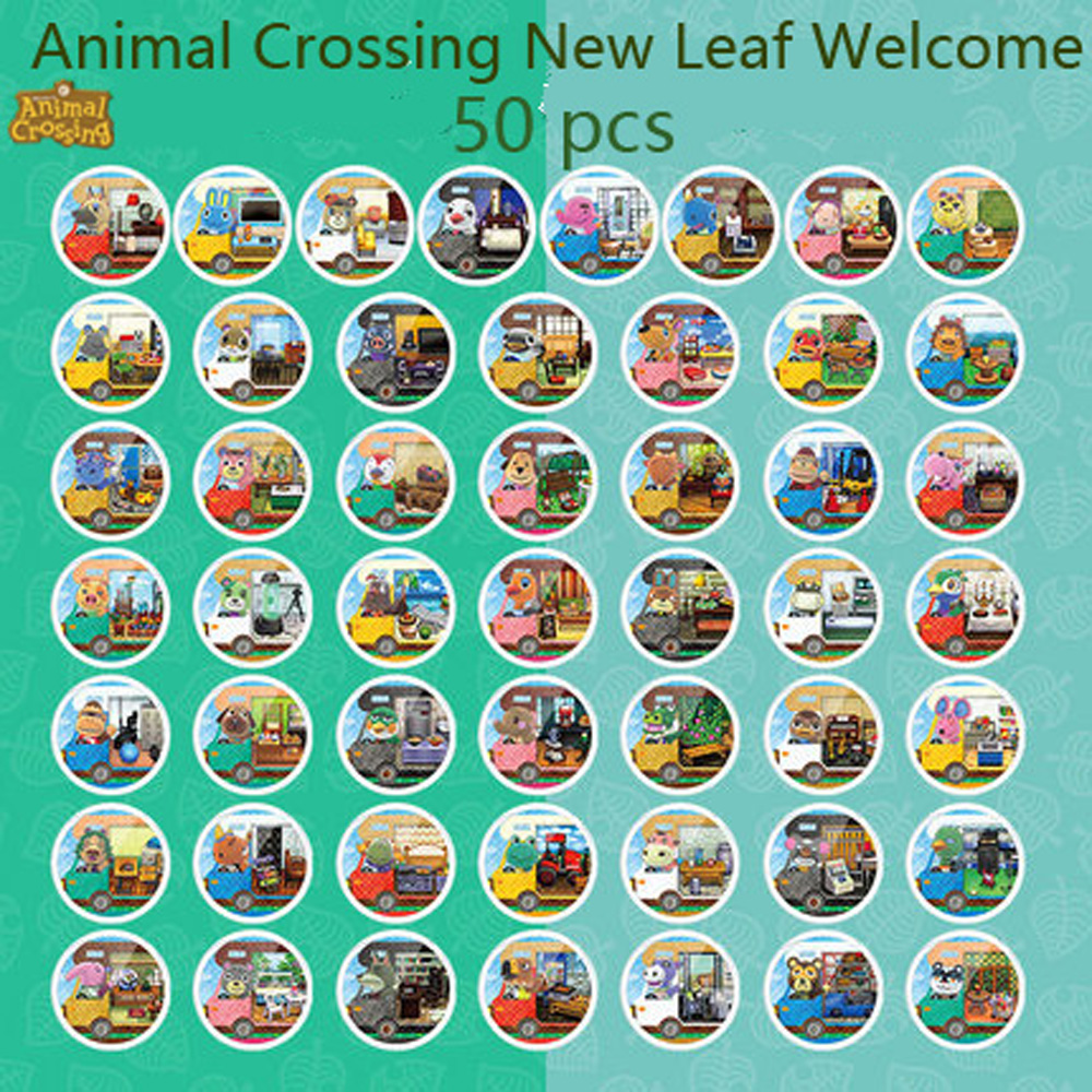 50pcs Amiibo Locks Nfc Card Work For Animal Crossing New Leaf Welcome NFC Printing Card