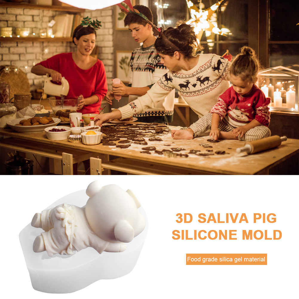 3D Cartoon Nettes Schwein Silikon Form DIY Backen Fondant Kuchen Eis Form stereo Weichen ton modellierung werkzeug Handgemachte gips orname