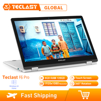 Teclast F6 Pro Laptop 13.3 Touch Screen Windows 10 Intel Core m3 7Y30 Dual Core 8GB RAM 128GB SSD 1920*1080 Notebook Micro HDMI