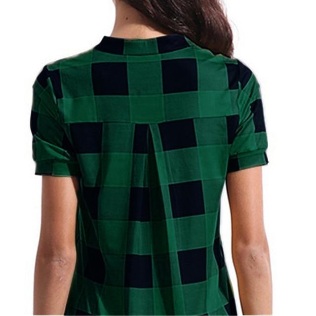 checkered pullover shirt, long and fun 5