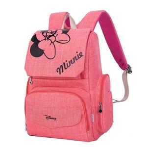 Image 4 - 원래 디즈니 가방 미니 미키 마우스 배낭 엄마 기저귀 가방 출산 여행 베이비 케어 엄마 가방 간호 핸드백