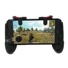 Dropshipping Gamepad Joystick tetik yangın düğmesi amaç L1 R1 anahtar L1R1 Shooter denetleyici PUBG için cep telefonu oyun pedi Joypad