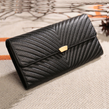 Top Quality Real Leather Wallet Gunuine Leather Card Holder Long Style Big Money Bags Women Purse