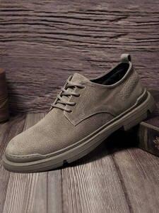 Men Shoes Footwear Flats-Man Suede Hot-Sale Casual Breathable Oxfords