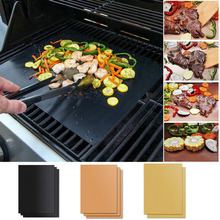 цена на Reusable Non-Stick Barbecue Grill BBQ Magic Grill Mat Heat Resistant Portable Outdoor Picnic Cooking Barbecue Oven Tool