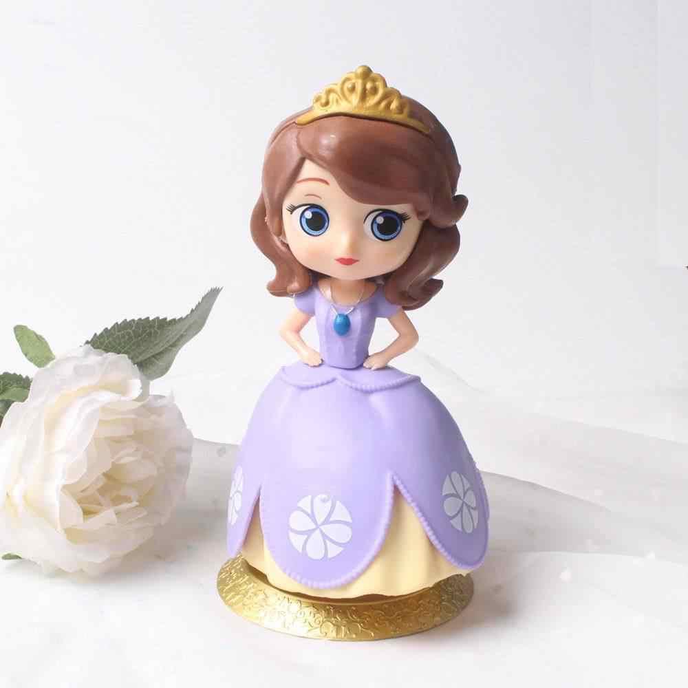 12cm qposket q posket rainha anna ariel dormindo beleza sereia neve branca sophia princesa rapunzel belle bolo de casamento brinquedos