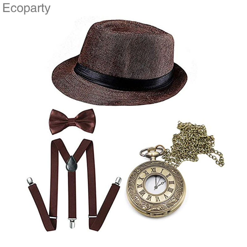 Accessories Suit Newspaper Vintage Retro Custom Made 1920s Men Boy Style Great Gatsby Is Place Of