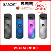 Original SMOK Nord Kit Carbon Fiber+Built-in Battery 3ml For E-Cig nord pod vape pen kit VS novo kit/infinix kit/stick prince