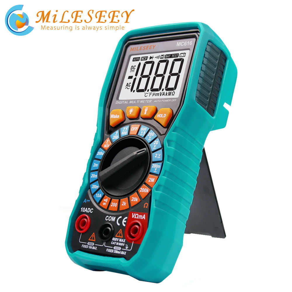 Mileseey Ncv Digitale Multimeter Auto Ranging Ac/Dc Voltage Meter Flash Licht Terug Groot Scherm