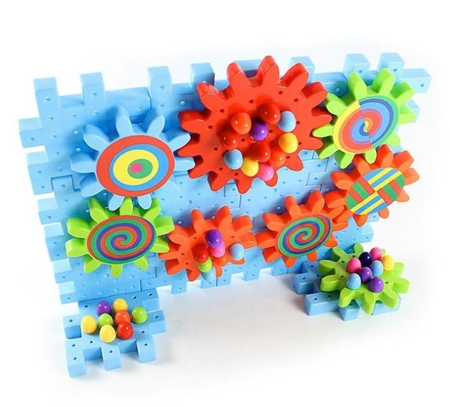 2019 новые 92 шт детские пластиковые строительные блоки игрушки Дети DIY творческие Обучающие игрушки Шестерня строительные блоки модель игрушечной машины