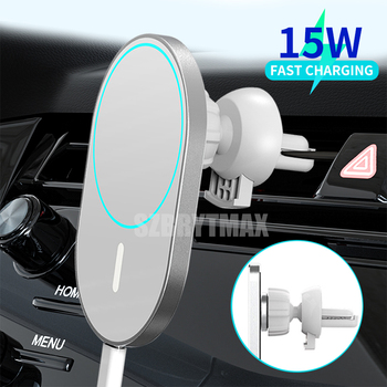 New 15W Fast Car Charger Holder For iphone 12 12 Pro 12Pro Max 12mini Wireless Charger Magnetic Phone Airvent Magnet Adsorbable image