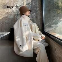 Женское зимнее пальто из искусственного меха норки стильная