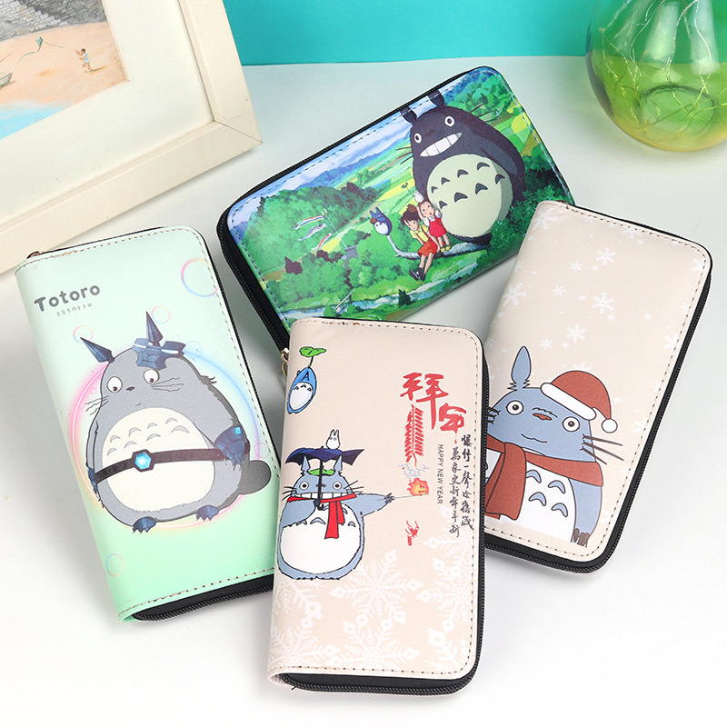 Cartoon My Neighbor Totoro Women Wallets PU Leather Students Wallet Cards Holder Women's Clutch Hasp Coin Purse Money Bags