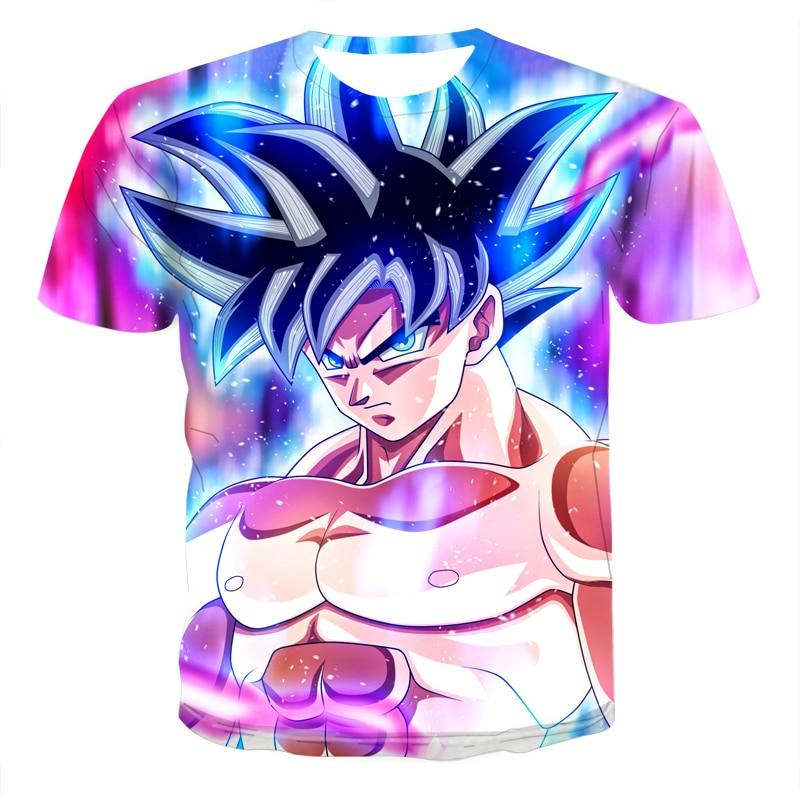 Anime Boys Clothing Summer Fashion Men's T-shirt 3D Anime Harajuku Tops T-shirt Men's O-Neck Shirt Large Size Streetwear