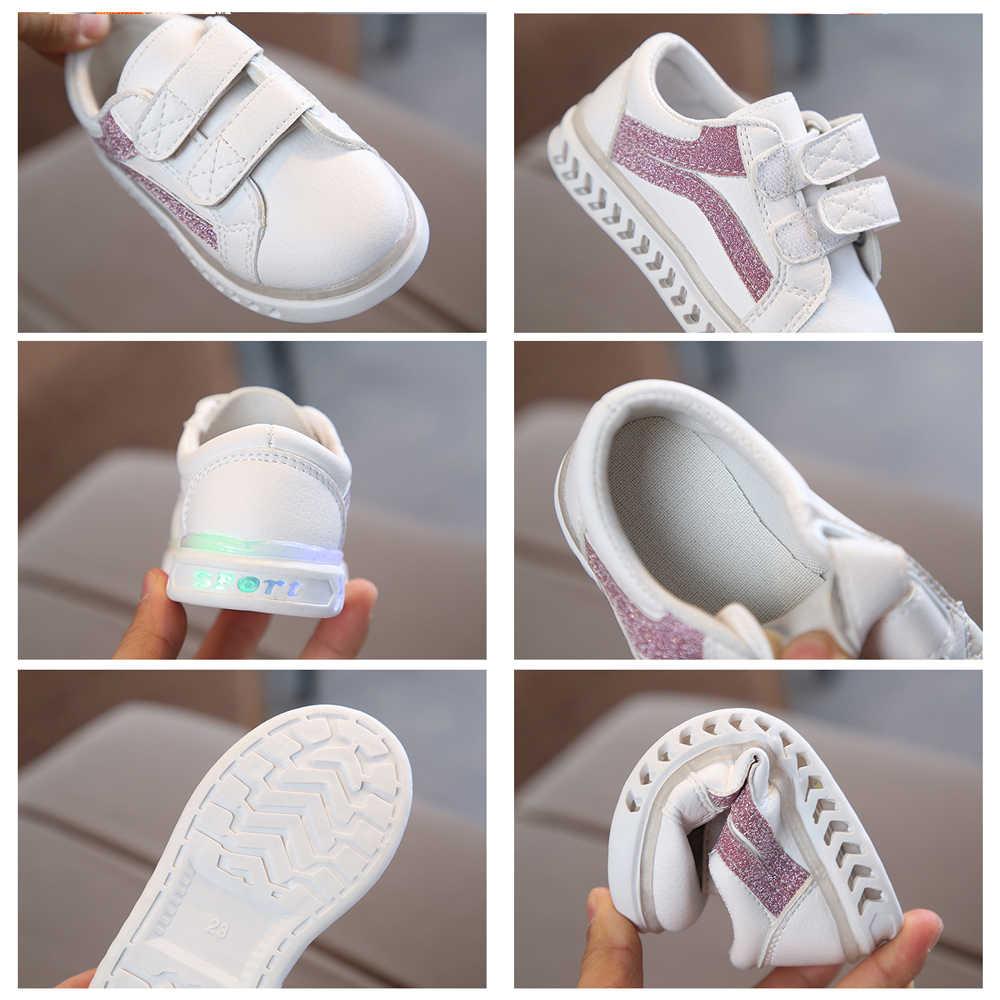 Zapatillas deportivas luminosas para niñas y niños, zapatillas parpadeantes para tenis infantiles, zapatillas deportivas Led brillantes, zapatos para niños y niñas, zapatos iluminados 2020