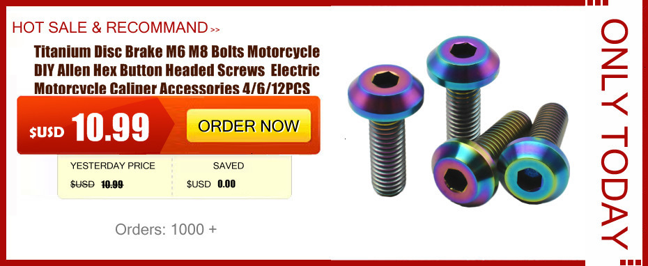 M10X40mm Titanium Ti Flange Head Hole Motorcycle Hex Socket Screw Bolts 1.5Pitch