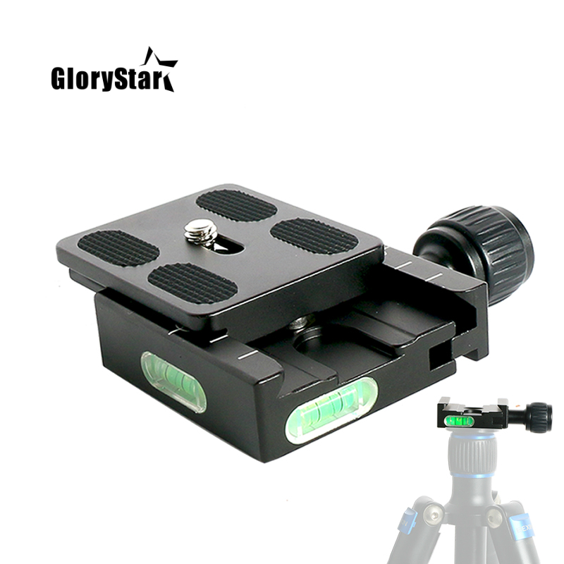 """Camera QR-120 Clip Adapter For Quick Release 1//4/"""" 3//8/"""" for Arca SWISS RRS Tripod"""