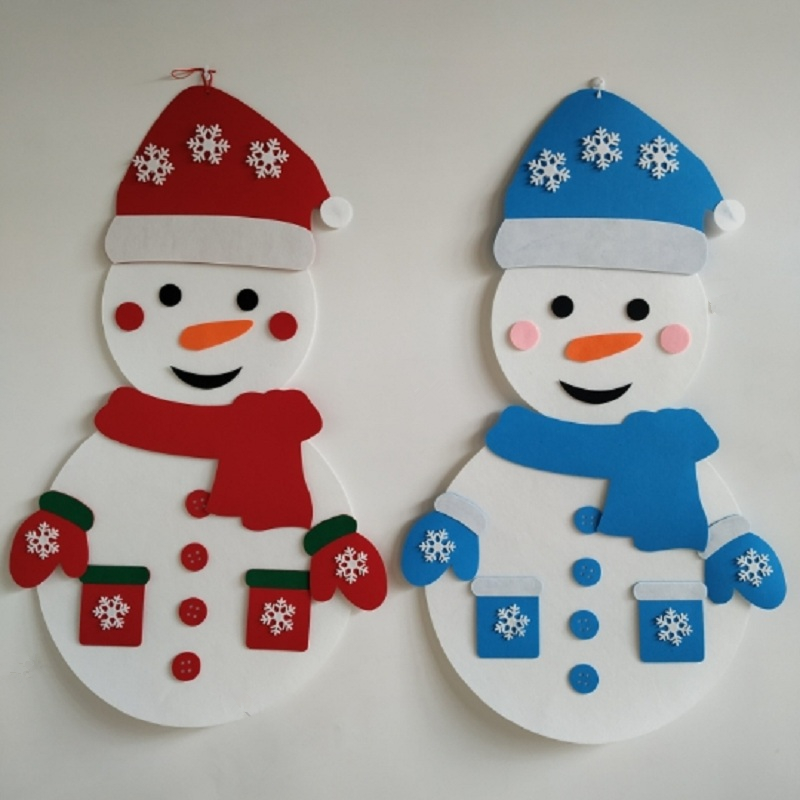 2019 Christmas Decorations Toy DIY Felt Snowman New Year Christmas Gift Kids Party Game Christmas Gift