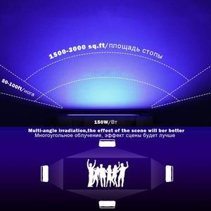 Image 4 - Luz LED para discoteca Dj, lámpara UV con efecto de escenario, ultravioleta, negro, Par, fiesta láser KTV, Navidad, Halloween, foco, enchufe para máquina de humo
