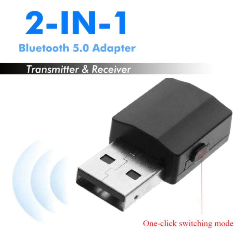 2 In 1 Bluetooth Receiver Transmitter Stereo Bluetooth 5.0 Adapter Audio Receiver USB Transmitter TV MP3 PC image