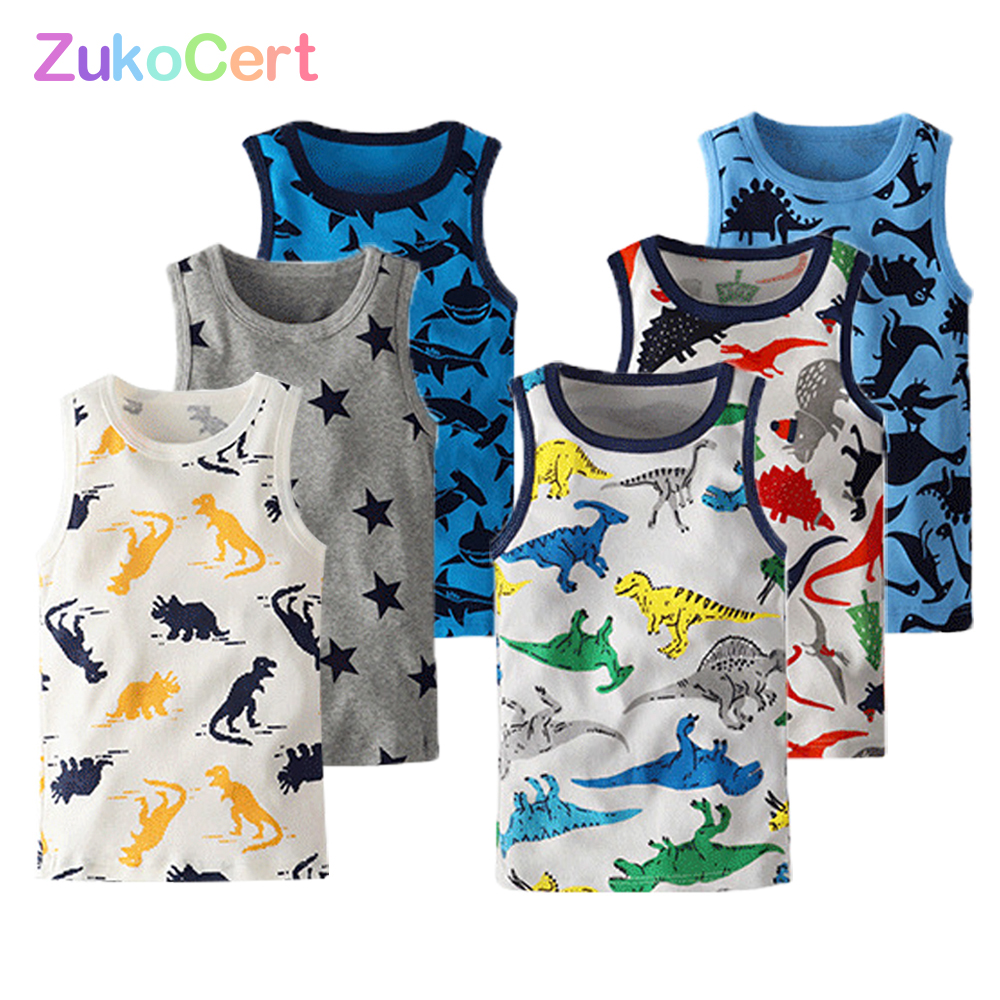 Children's Summer Vest Sleeveless T-shirt Summer Kids Outerwear Tops Clothes Cotton Camisoles Solid Toddler Tees 2-10T