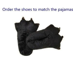 Image 4 - Kumamone Kigurumi Pajamas Adult Cosplay Costume Women Men Onesie Winter Warm Sleepwear Flannel Suit Bear Role Play Girls