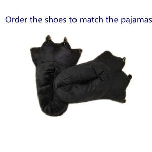Image 4 - Kumamone Kigurumi Pigiama Cosplay Adulti Costume Donne Uomini Tutina Caldo di Inverno Degli Indumenti da Notte di Flanella Orso Vestito Gioco di Ruolo Delle Ragazze