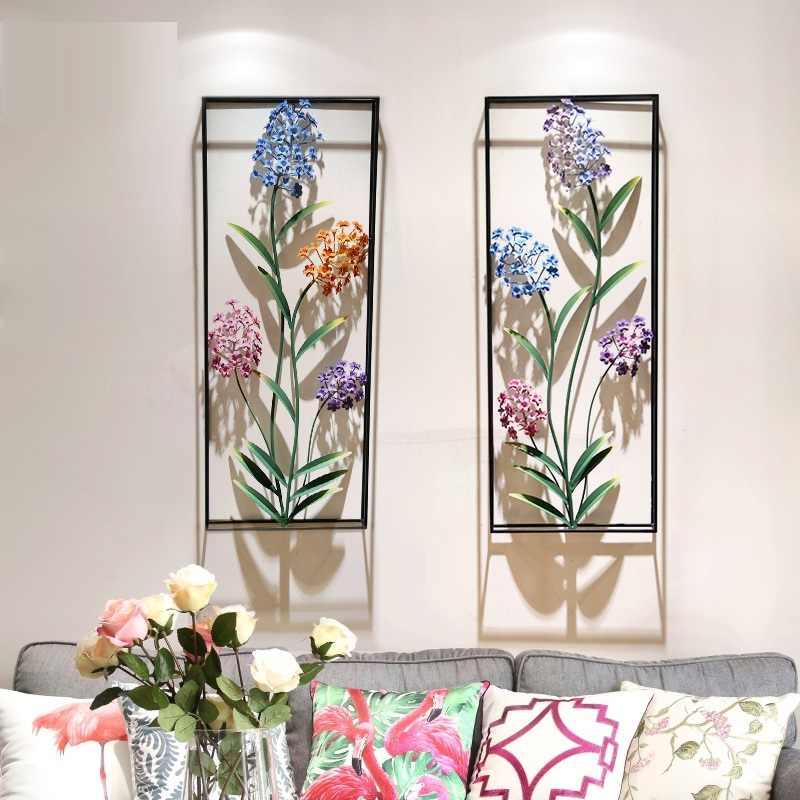 Американский креативный 3D стерео завод цветы из кованого железа настенная