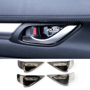 Image 3 - 車の内装ドアハンドルボウルトリムカバーステッカーマツダ2 3 6デミオCX3 CX 5 CX5 cx 5 CX7 CX9 MX5アクセラアテンザ2017 2018 2019