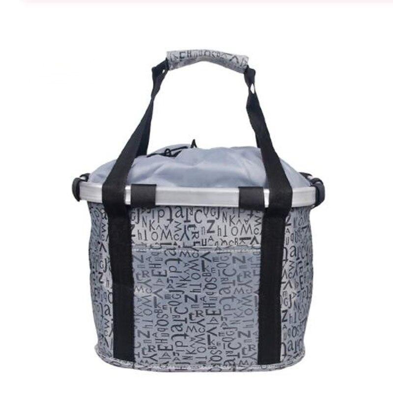 Велосипедная корзина, корзина для руля велосипеда, велосипедный держатель, сумка для езды на велосипеде, велосипедная Передняя багажная сумка, нагрузка 3,0 КГ - Цвет: Grey