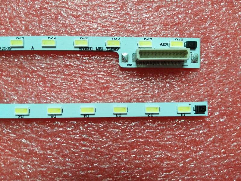 Для skyworth 50E510E Артикул лампы V500H1-ME1-TLEM9 экран V500HJ1-ME1 1 шт. = 68LED 623 мм