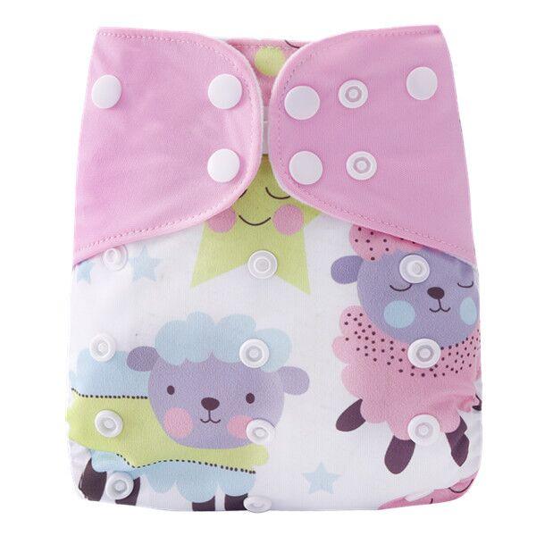 [Simfamily] 1 шт. многоразовые тканевые подгузники, регулируемые детские подгузники, моющиеся подгузники, подходят для 3-15 кг детские подгузники - Цвет: NO30