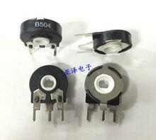 Potentiometer PT15-500K B504 adjustable potentiometer vertical elliptical hole rotation adjustable resistance(China)