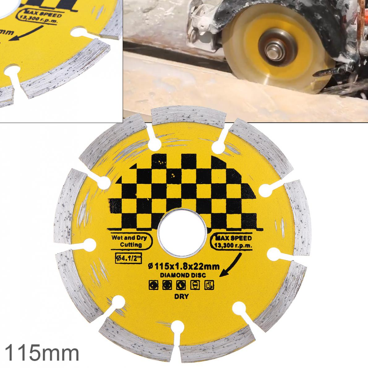115mm Hard Alloy Steel Circular Saw Blade Marble Stone Cutting Blade Diamond Dry Cutting Disc With Dry Slotted Broken Walls